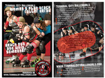Germaine Koh - Terminal City Rollergirls promotional postcard